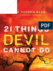 21 Things the Devil Cannot Do