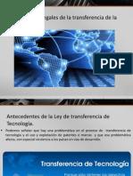 3.3 Aspectos Legales de La Transferencia de La Tecnologia