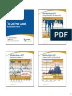 Gold Price Outlook September 2014