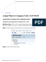 Assign Plant to Company Code _ SAP OX18 – SAP Training Tutorials