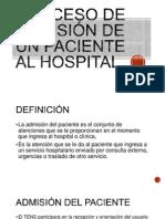 Proceso de Admisión de Un Paciente Al Hospital