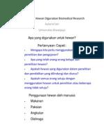 Penggunaan Hewan Digunakan Biomedical Research
