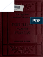 Tertullian's Against Praxeas - English trans. by Alexander Souter