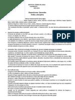 Disposiciones Generales Orden y Disciplina 2013-2014