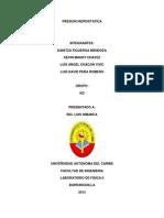Informe de Presion Hidrostatica.