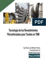 Tecnologia de Los Revestimientos Fibroreforzados Para Tuneles