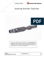 CRTA Rotating Anchor Catcher Operating Instructions
