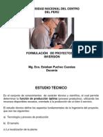 Diapositiva Del Curso de Formulaciòn de Proyectos de Inversiòn (P-5) Uncp