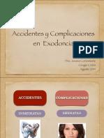 Clase Complicaciones Post Exodoncia PDF