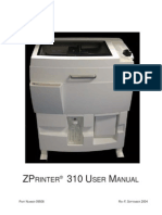 ZPrinter 310 User Manual_RevF