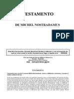 Nostradamus, Michel - Testamento