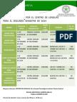 Cursos de Idiomas Segundo Semestre de 2014 1