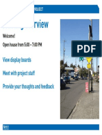 Boards for Fauntleroy Boulevard open house