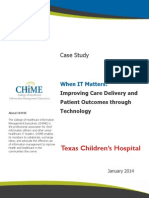 Texas Childrens Case Study