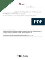 Problèmes Politiques Et Philosophiques Dans Le Teatre de Sartre