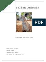burgess lucy australian animals