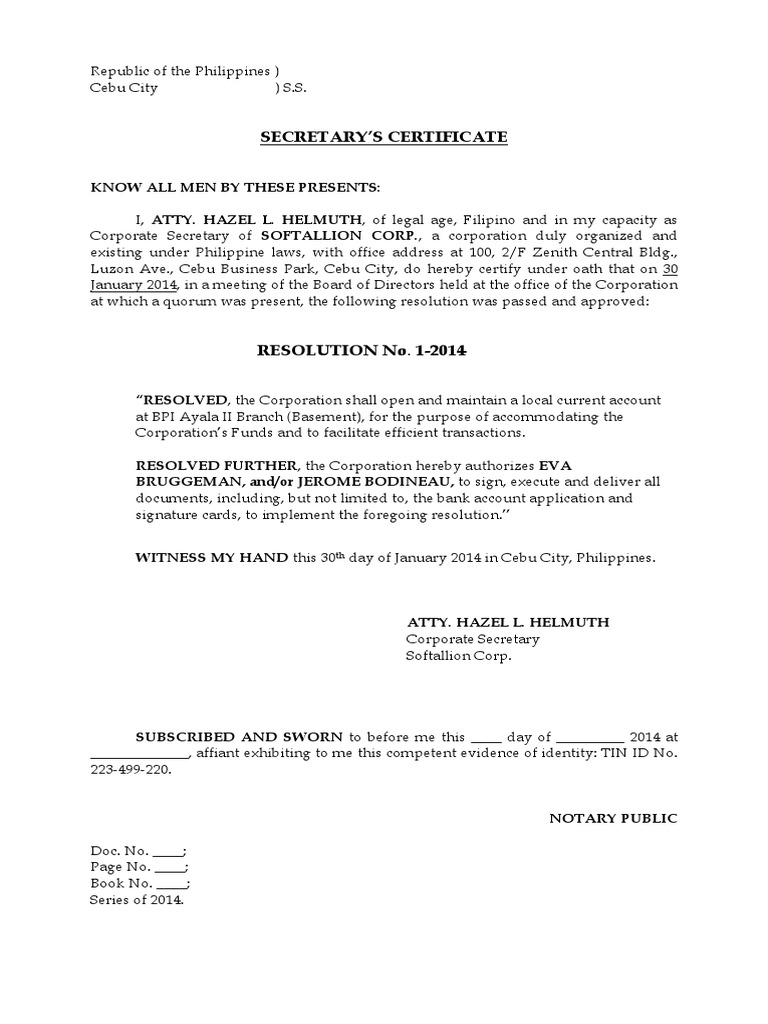 Corporate Secretary Certificate Template - Best Design Sertificate 2018
