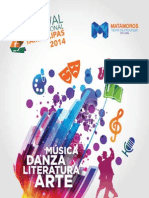 Programa del Festival Internacional Tamaulipas 2014 Sede Matamoros