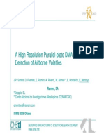 A High Resolution Parallel Plate DMA for the Detection of Airborne Volatiles