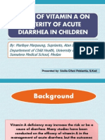 Effect of Vitamin a on Severity of Acute Diarrhea in children
