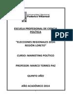 Elecciones Gobierno Regional de Loreto Marco Torres Paz
