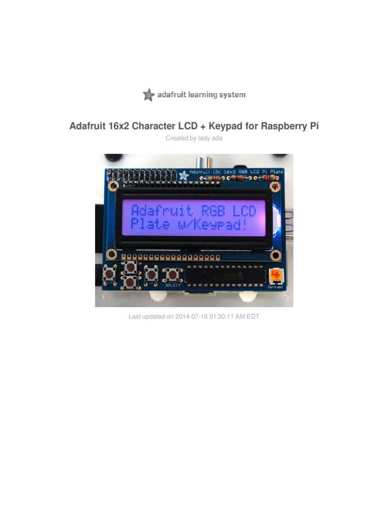 Adafruit I2c List