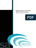 Applying Lean in the Public Sector Updated by DS
