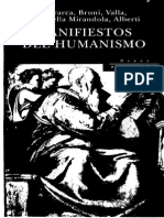 Petrarca, Bruni, Valla, Pico Della Mirandola, Alberti - Manifiestos Del Humanismo Ed. Peninsula 2000