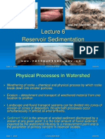 Sedimentation in dams and resorvoirs