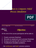 Introduction to Process Simulation of Plant Design
