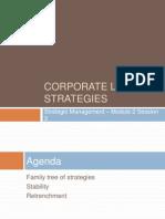 S3 Corporate Level Strategies