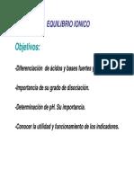 Clase 11, Equilibrios Ionicos y PH (Curso 2009) [Modo de Compatibilidad]