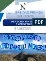II Unidad Derecho Minero (x Semana)