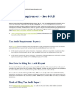Tax Audit Requirement
