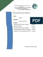 Monografía de Alimentos Transgénicos