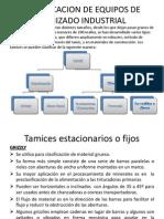 Clasificacion de Equipos de Tamizado Industrial
