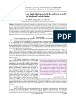 Issues and concerns on Agriculture productivity and food security in Madhya Pradesh, India.