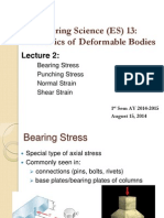 Lecture 2 Bearing and Punching Stress, Strain