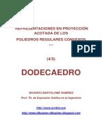 POLIEDROS EN PROYECCIÓN ACOTADA.  (4/5) DODECAEDRO.