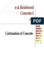 Carbonation in concrete