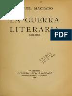 Manuel Machado - La Guerra Literaria, Facsimil 1913