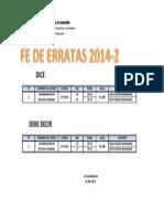 Fe Erratas 2014-2