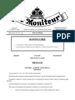 Le Moniteur - Promulgation Loi Portant Sur Blanchiment Des Capitaux - Novembre 2013