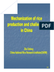 Mechanization in China for Paddy