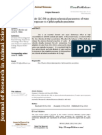 Effect of Zinc Chloride (LC-50) on Physicochemical Parameters of Water Upon Exposure to Ophiocephalus Punctatus