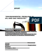 MBA project (Environment Issues of oil and gas)