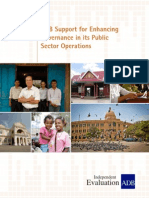Thematic Evaluation Study of ADB Support for Enhancing Governance in its Public Sector Operations