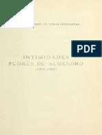 Francisco Villaespesa - Intimidades - Flores de Almedro, Facsimil 1916