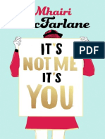 It's Not Me It's You, by Mhairi McFarlane - extract