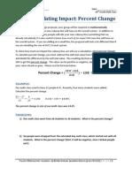 IWS3 - Calculating Percent Change